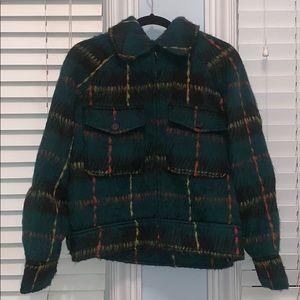Green Tartan Felt Jacket